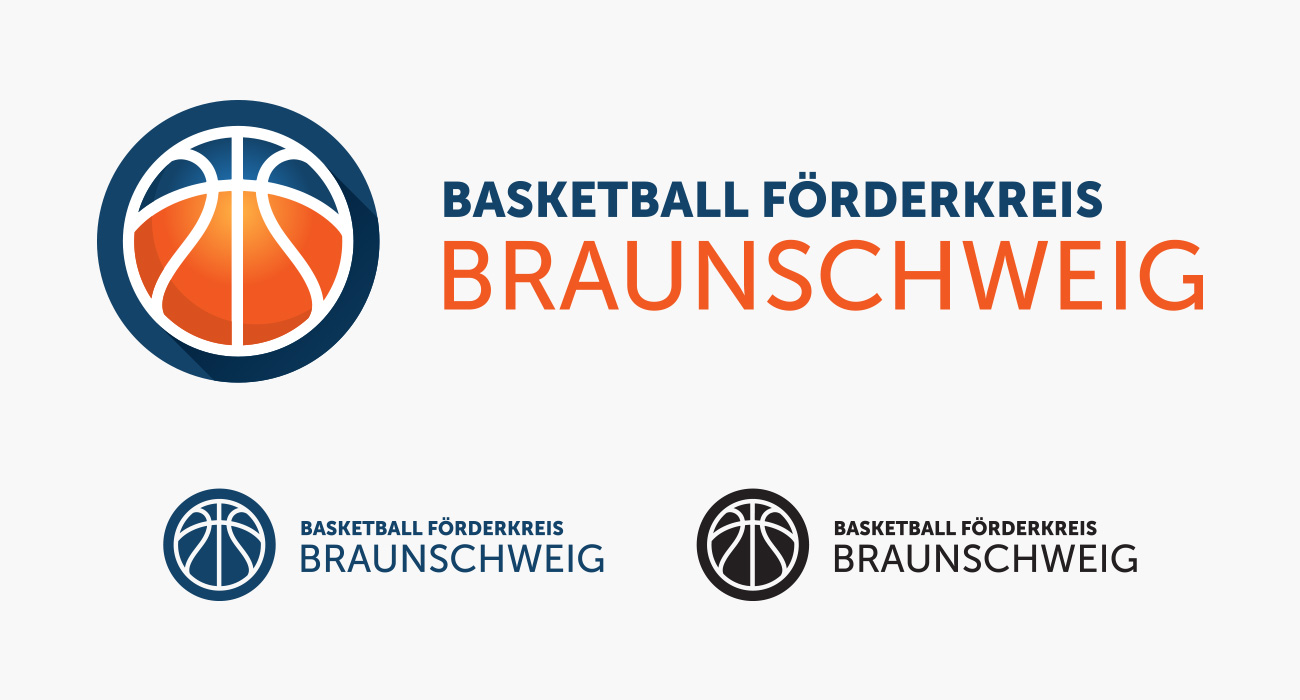 Logodesign Basketball Förderkreis Braunschweig